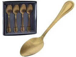 Набор чайных ложек EH 4шт золотых Античность, нерж cталь