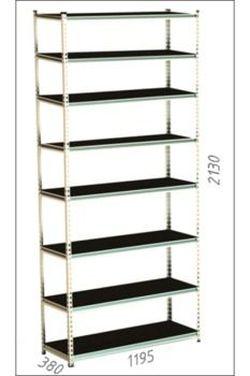 Стеллаж металлический Moduline 1195x305x2440 мм, 8 полок/0164PE антрацит