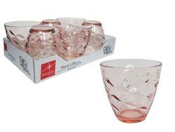 Набор стаканов для воды Flora Acqua 6шт, 260ml, лиловые