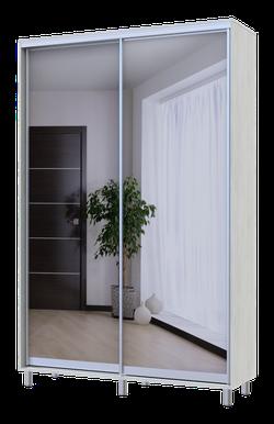 City Lite 2 usi oglinzi 2.25 m x 1.5m x 0.45 m lemn alb 0449