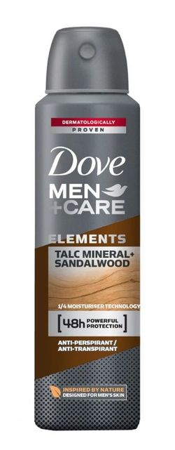 Antiperspirant Dove Men Talc Mineral&Sandal Wood, 150 ml