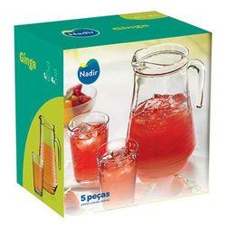 Set p-u bauturi NADIR NR-1321 Ginga (280 ml/4 buc+ulcior 1550 ml)