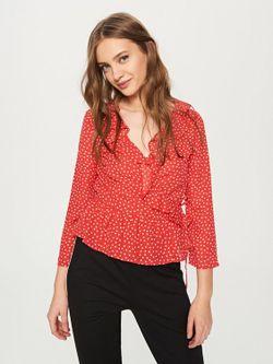 Блуза RESERVED Красный в горошек sx884-mlc
