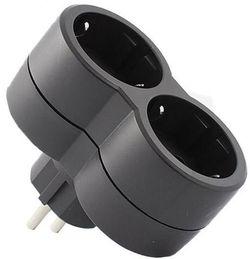 cumpără Adaptor electric Legrand 50511 Priza 2x2P+T frontal negru,LR în Chișinău