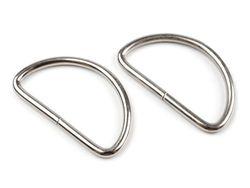 Inel metalic tip D, 38 mm, argintiu