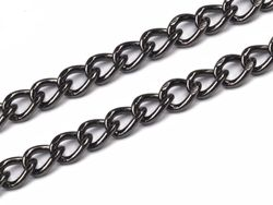 Handbag chain, 120 cm, black nickel