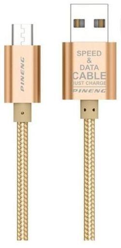 купить Кабель для моб. устройства Pineng PN-306 Rapid Micro USB 1.5m Gold в Кишинёве