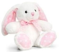 Baby Spotty Rabbit Iepuras cu un arc 25 cm, cod 42943