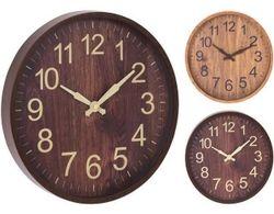 купить Часы Promstore 27875 rotund 30cm, H4cm, plastic, lemn в Кишинёве
