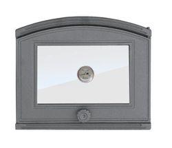 Дверца чугунная со стеклом правая с термометром DP2Т
