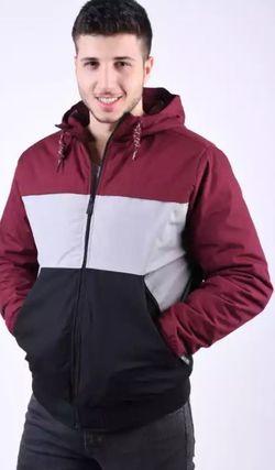 Куртка STITCH&SOUL Бордо/Серый/Черный H6145A44427A