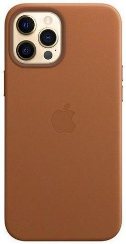 cumpără Husă pentru smartphone Apple iPhone 12 Pro Max Leather Case with MagSafe Saddle Brown (MHKL3) în Chișinău
