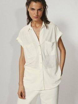 Блуза Massimo Dutti Белый 6867/887/712