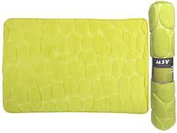 Коврик для ванной комнаты 50X80cm Pebble зелeный, микрофибр