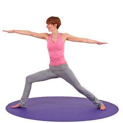 Коврик для йоги  Bodhi Mandala Round VIOLET -4.5мм