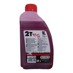 Моторное масло красного цвета Oregon 2T 1л
