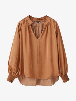 Блуза Massimo Dutti Темно бежевый 5101/520/763