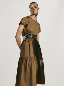 Платье Massimo Dutti Темно бежевый 6699/921/737