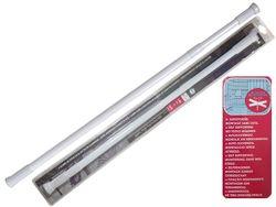 Карниз для шторки раздвижной MSV 140-260cm, белый, алюминий