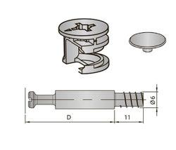 Set Excentric, diblu Ø 15 + capac INDAUX