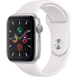 Apple Watch Series 6 GPS, 40mm Aluminum Case with White Sport Band, MG283 GPS, Silver