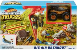 Set de concurență de mare salt  Monster Trucks Hot Wheels, cod GCG00