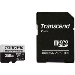 Сard de memorie Transcend MicroSD 256Gb Class 10 +SD (TS256GUSD330S)