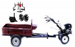 Набор мотоблок TECHNOWORKER HB 700RS PRO+Прицеп RK500 + плуг простой + металлические колеса 4*8 + мотыга