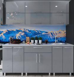 Кухонный гарнитур Bafimob Modern (High Gloss) 2.0m no glass Grey