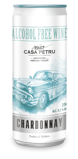Белое Игристое полусладкое безалкогольное вино, 0.25 Л