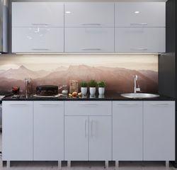 Кухонный гарнитур Bafimob Modern (High Gloss) 1.8m no glass White