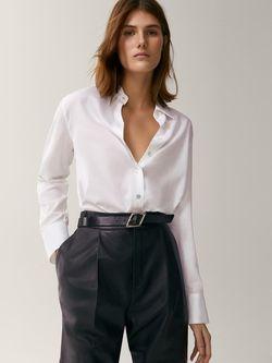 Блуза Massimo Dutti Белый 5123/504/250