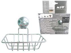 Мыльница Super Ventosas на присоске 14X11.7cm, хром