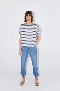 Блуза ZARA Белый в полоску 7706/505/043