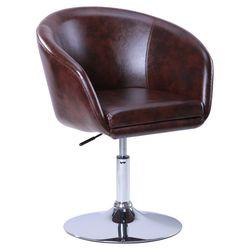 Кресло Дамкар хром Мадрас ДК Браун коричневый