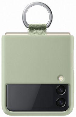 cumpără Husă pentru smartphone Samsung EF-PF711 Silicone Cover with Ring B2 Olive Green în Chișinău