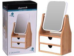Зеркало MAKE UP с ящиками 30X17X10cm, бамбук
