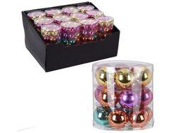 Set globuri din sticla 18X30mm, in cilindru, diverse culori