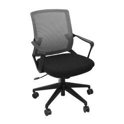 Офисный стул 610x630x885 мм, черный с серым