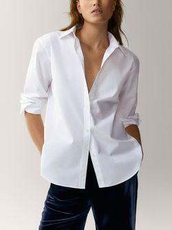 Блуза Massimo Dutti Белый 5105/548/250