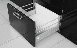 Modern Box gri L-500 H-210 deschidere totală cu amortizor