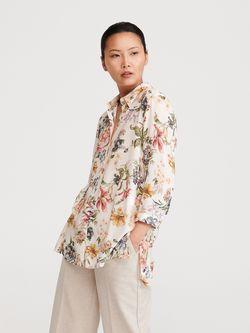 Блуза RESERVED Бежевый в цветочек