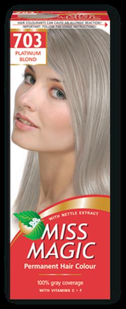 Vopsea p/u păr, SOLVEX Miss Magic, 90 ml., 703 - Blond platinum