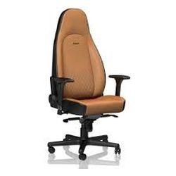Игровое кресло Noble Icon NBL-ICN-RL-CBK Коньяк / Черная натуральная кожа,