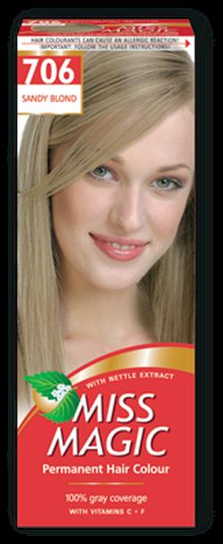Vopsea p/u păr, SOLVEX Miss Magic, 90 ml., 706 - Blond nisipiu
