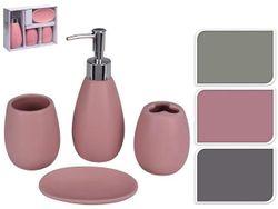 Набор для ванной Капля 4ед, керамика, 3 цвета