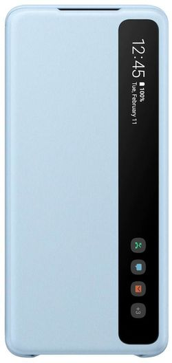 cumpără Husă telefon Samsung EF-ZG985 Clear View Cover Sky Blue în Chișinău