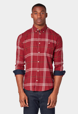 Рубашка TOM TAILOR Бордо в клетку 1013519 tom tailor