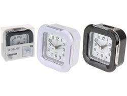 Ceas-desteptator patrat 8X8X3.5cm cu functie de lampa