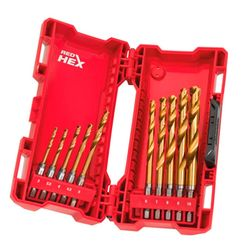 Набор свёрл MILWAUKEE Shockwave HSS-G TiN Red Hex 3-10 мм